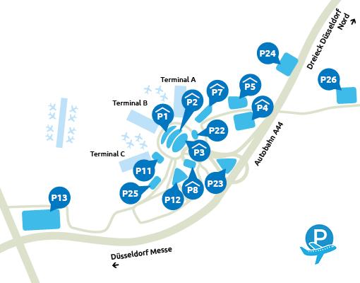 Parkeermogelijkheden Dusseldorf Airport
